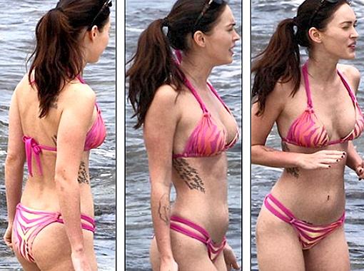 На теле актрисы целых девять татуировок. Фото Daily Mail.
