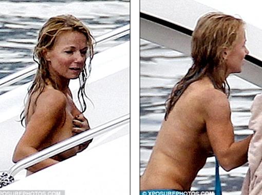 Перчинка без комплексов переодевалась прямо на палубе яхты. Фото Daily Mail.