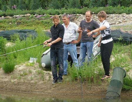 Тимощук на рыбалке. Фото: Первый национальный