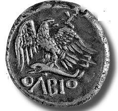 Греки первыми в мире стали чеканить монеты. Эта ходила в Ольвии в IV веке до н. э.