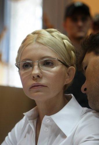 Тимошенко выглядит похудевшей и уставшей. Фото УНИАН.