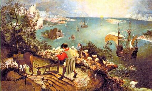 «Падение Икара», 1558 год.