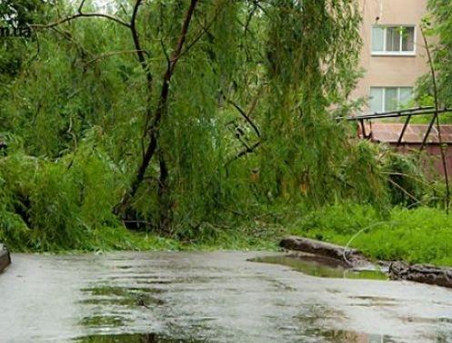 Ливневки не справляются с нахлынувшей водой. Фото с сайта 0642.com.ua.