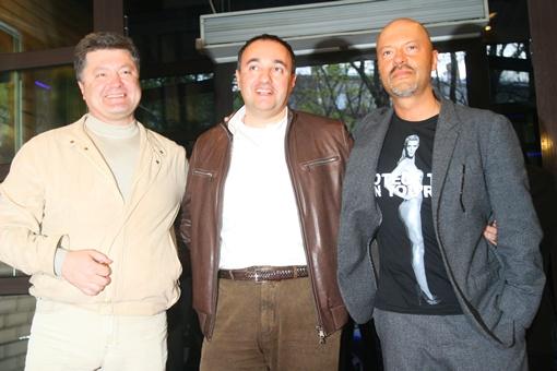 Юбиляр и его друзья  - Петр Порошенко и Федор Бондарчук.