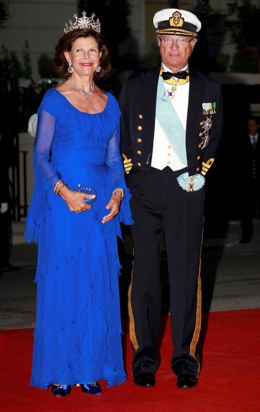 Королева Сильвия с королем Карлом Густавом. Фото  Рейтер