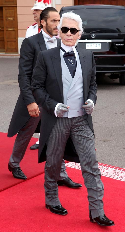 На свадьбе был и дизайнер Карл Лагерфельд. Фото  Рейтер