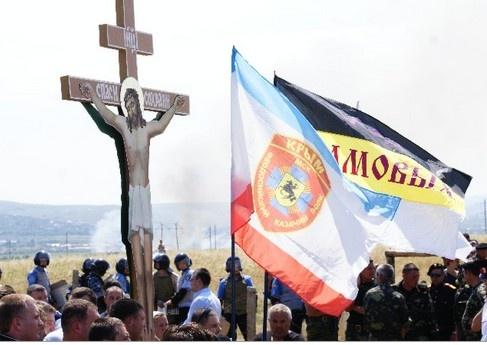 Людям не дали установить крест. Фото: feo.ua