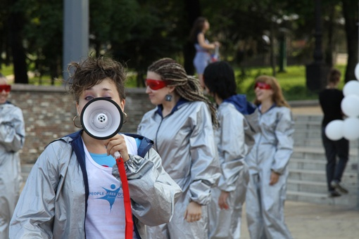 Позитивная акция – «Танец свободных людей». Фото: Павел Колесник.