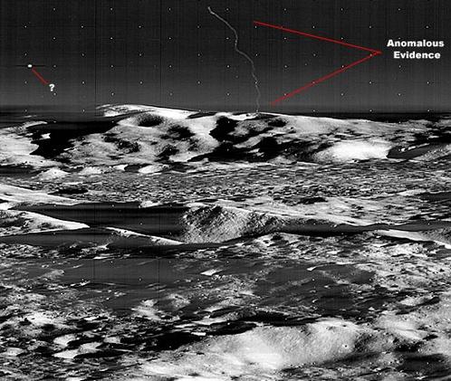 Два НЛО на Луне. Снимок Lunar Orbiter 3 с высоты порядка 60 километров.