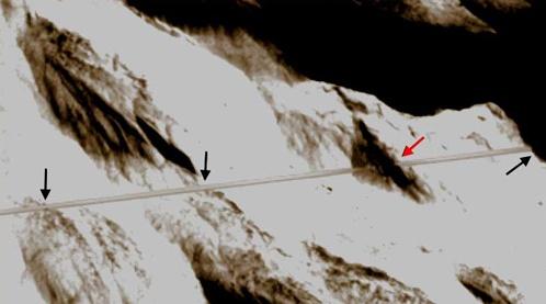 Фрагмент тоннеля (повернуто на 90 градусов)