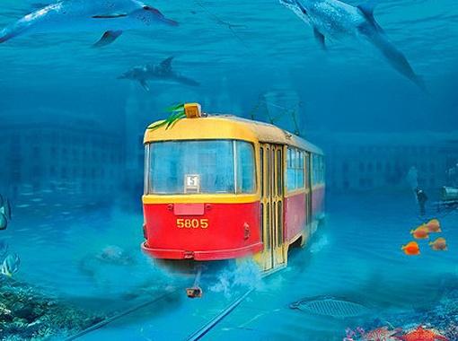 В городе будущего транспортный вопрос решат кардинально: трамваи пойдут под Днепром...