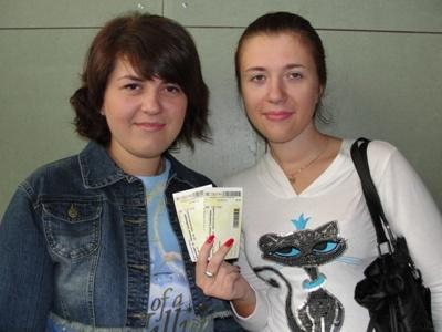 Победители получили два билета на концерт группы