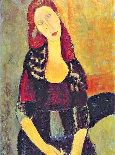 Портрет Жанны Эбютерн, 1918 г.