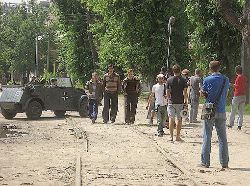Ул. Чеботарская, где вчера проходили съемки «Матча».