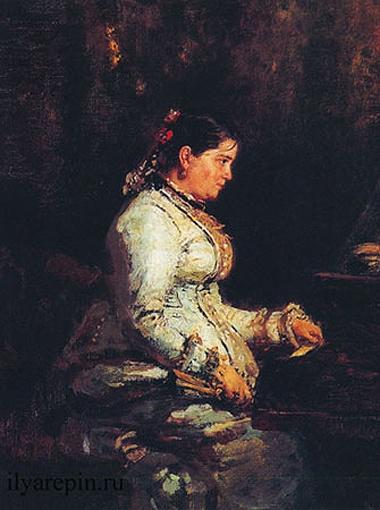 Репин. У рояля. Портрет С. Тарновской.