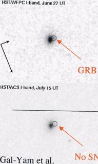 Вспышку GRB 060614 засекла гамма-обсерватория Swift. Объект наблюдали с помощью космического телескопа Hubble и с Земли. Сверхновой на месте вспышки не обнаружено.