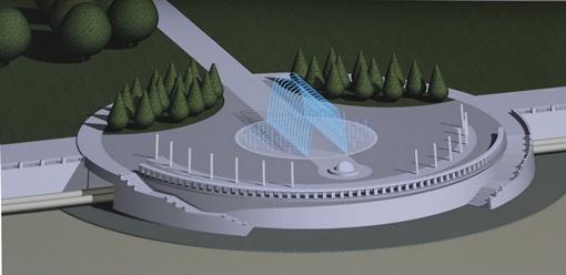 Так будет выглядеть смотровая площадка с фонтаном. Фото Сергея КАШИРИНА.