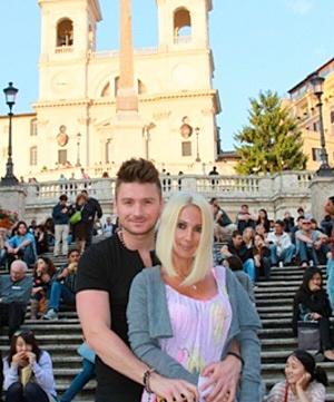 Лазарев и Кудрявцева отдохнуле в Риме. Фото: пресс-служба артистов