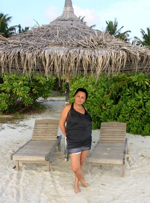 Мозговая провела отпуск под соломенными зонтиками на Мальдивах. Фото: Facebook