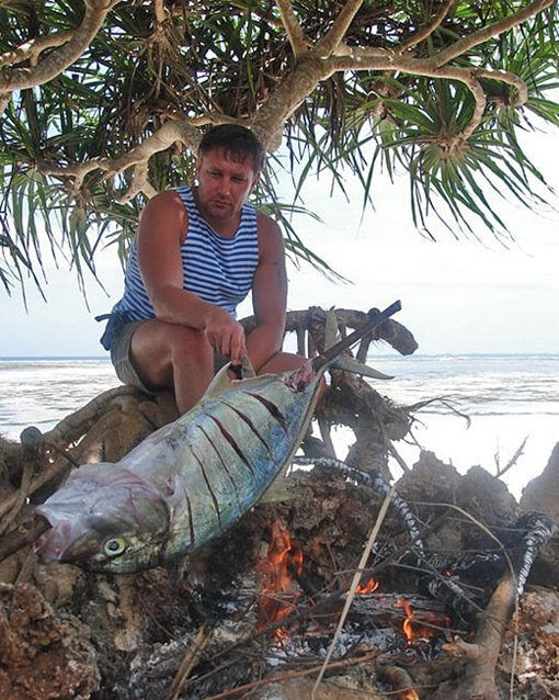 Стогний поймал большую рыбу. Фото: Facebook