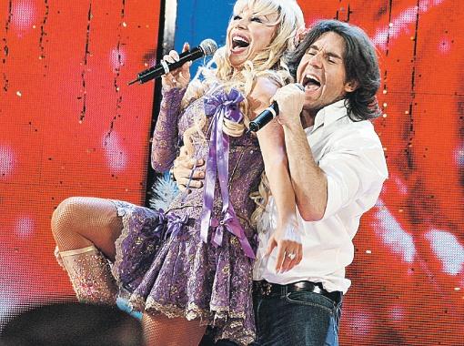С Машей Распутиной в шоу