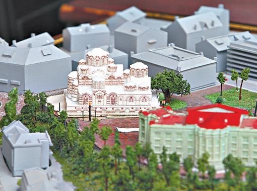 Проект Ольги Кругляк предусматривает строительство большого храма в византийском стиле.