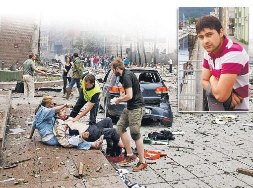 После взрыва в пятницу центральная часть Осло напоминала город, где идут боевые действия. Фото РЕЙТЕР и с личной страницы Назара Бараника на сайте