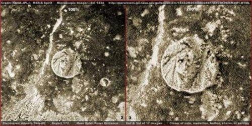 Предмет очень похож на монетку. Фото: NASA