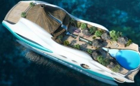 Здесь есть все что надо - пляжи, пальмы и вулкан.. Фото: Yacht Island Design