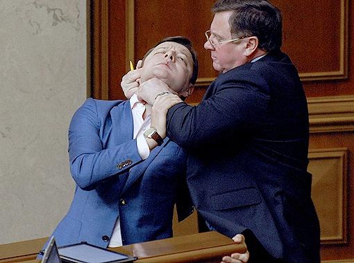 Парламентского хулигана Ляшко ругают в
