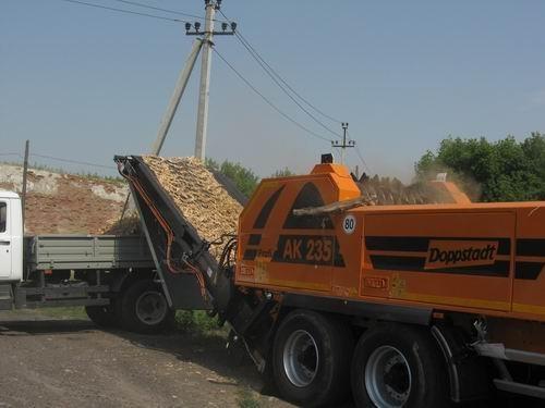 В Донецке сегодня презентовали дробилку для утилизации деревьев. Фото: http://ostro.org.