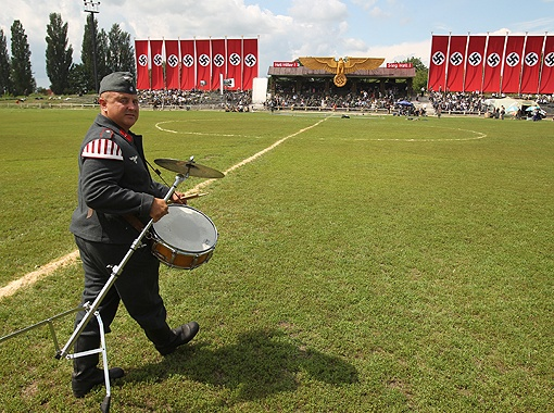 Васильковский стадион искусственно вернули во времена фашистской оккупации. Фото Максима ЛЮКОВА.