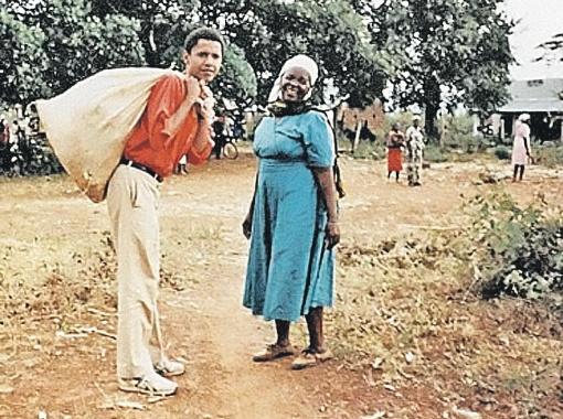 Барак с бабушкой.