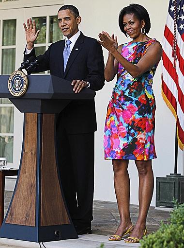 Барак и Мишель Обама попали в рейтинг самых стильных пар. Фото Daily Mail.