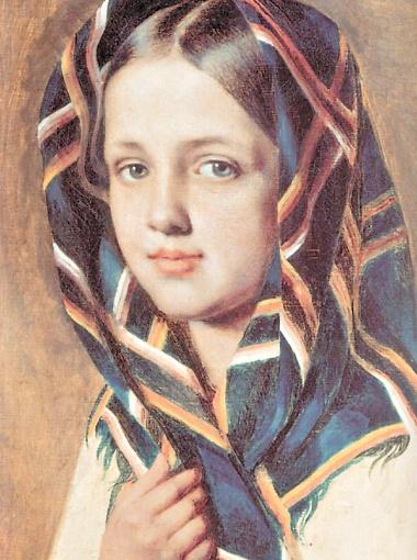 Девушка в платке, 1810 г.