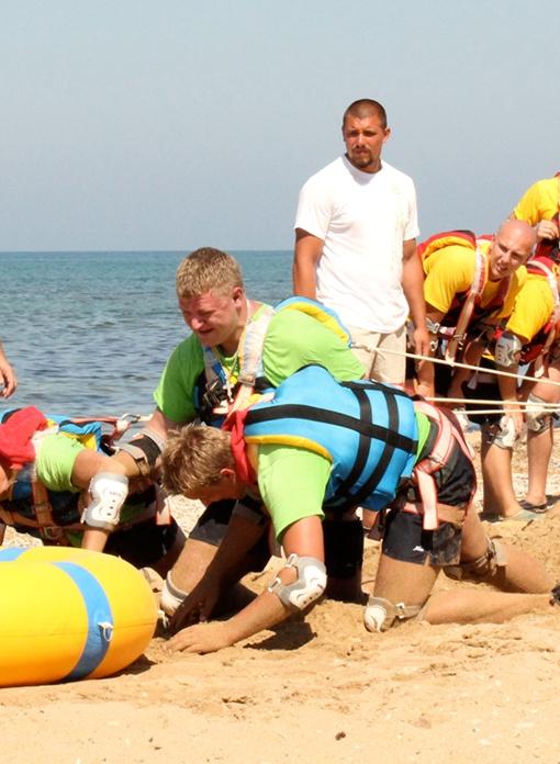 Состязания происходили на пляже. Фото пресс-службы.