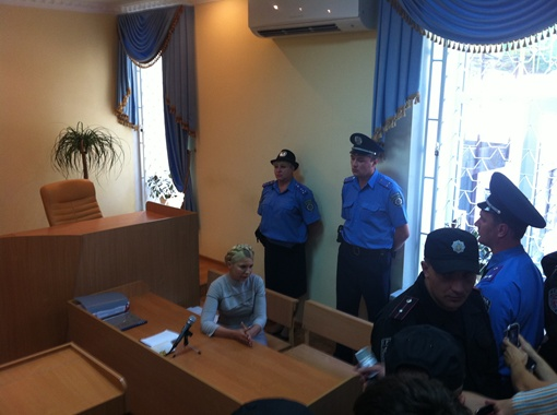Тимошенко в зале суда. Фото автора