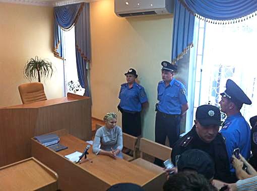 Тимошенко в зале суда. Фото Анны Мамоновой.