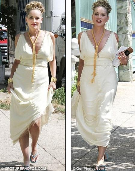 Шэрон Стоун хороша и в 53 года - неудивительно, что именно ей дали роль греческой богини. Фото: Daily Mail.