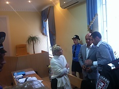 Тимошенко готовится к записи обращения. Фото с официального сайта политика