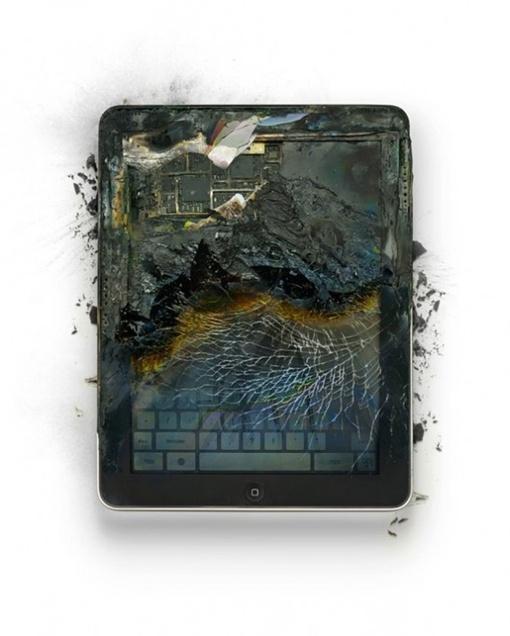 Разбитый iPad. Фото с сайта www.freshnessmag.com.
