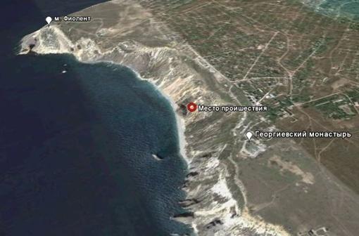 Схема места происшествия в программе Google Map.