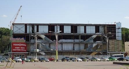 …И таким ЦУМ стал вдруг - после достройки двух этажей из четырех запланированных. Фото с сайта sobitie.com.ua