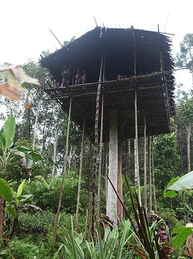 В таких домах живут люди из племени караваев.