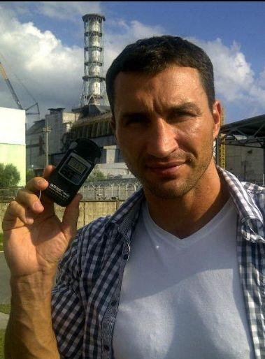Счетчик Гейгера. Фото со страницы Кличко в facebook