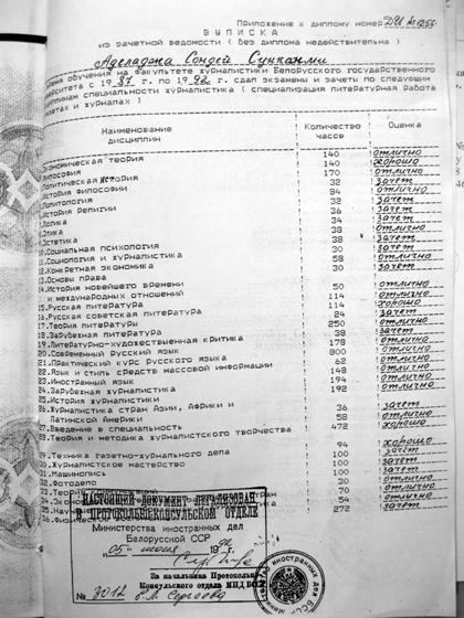 Копия диплома Аделаджи. Фото с сайта focus.ua.