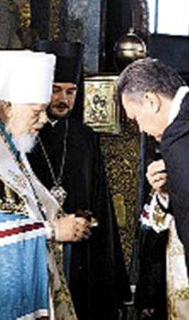 Президент Янукович регулярно поздравляет с днем рождения предстоятеля Украинской православной церкви.