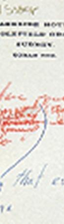 Запись, сделанная Монро на бланке резиденции