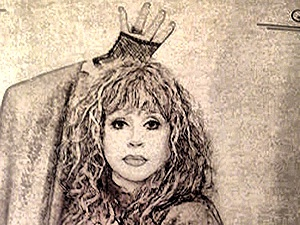"""Этот портрет Алла Борисовна нарисовала сама по своей известной фотографии и оформила им книгу """"М.А.Г"""". Фото Марии Ремизовой."""