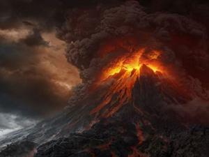 """Так эффектно """"Роковая гора"""" выглядела в фильмах Питера Джексона. Фото: кадр из фильма."""
